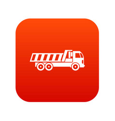 Machinery icon digital red vector