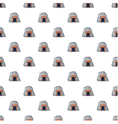Mine in mountain pattern seamless vector