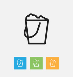 Of cleaning symbol on pail vector