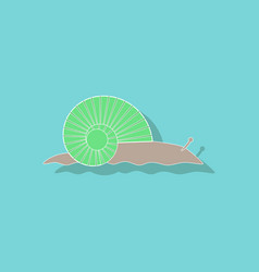 Paper sticker on background of snail vector
