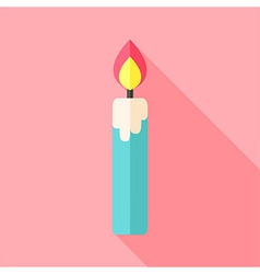 Religious big candle with flame vector image vector image