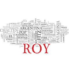Roy word cloud concept vector