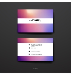 Set of Design Business Card Template in Mardi Gras vector image vector image