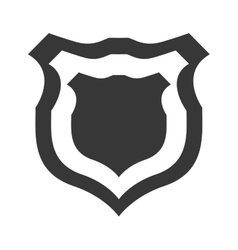 shield protection insignia security military icon vector image vector image