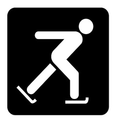 Skating sign vector