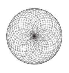 Spirograph element on white background abstract vector