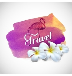 Travel label with exotic vector image