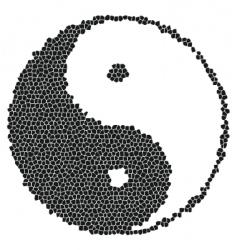 yin-yang mosaic vector image vector image