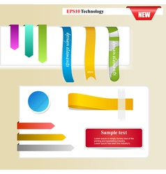Web page sticker designs vector