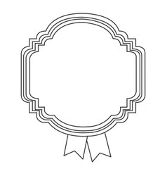 figure emblem with ribbon icon vector image