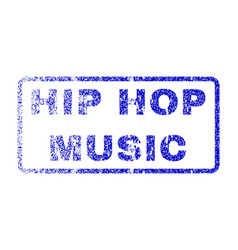 Hip hop music rubber stamp vector