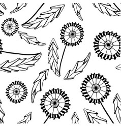 abstract dandelions vector image