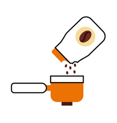 Coffee toast bag with toaster vector