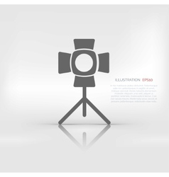 spotlight icon light for photocamera vector image