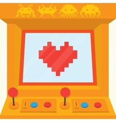 Be my retro valentine isolated vector