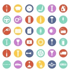 Set of car parts icons vector