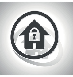 Locked house sign sticker curved vector
