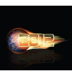 2012 doomsday background vector image