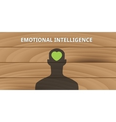 Emotional intelligence human head with love symbol vector