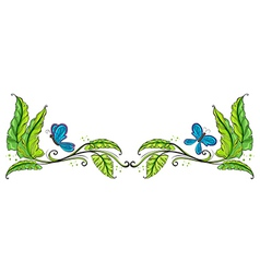 A border with butterflies vector image vector image
