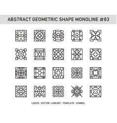 Abstract geometric shape monoline 83 vector