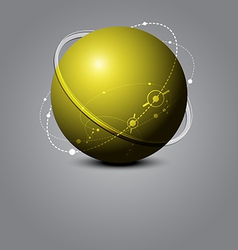 Abstract sphere science concept vector