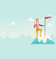 achievement of business success vector image