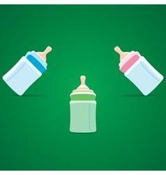 Baby bottle vector