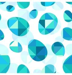Blue diamond eggs seamless pattern vector