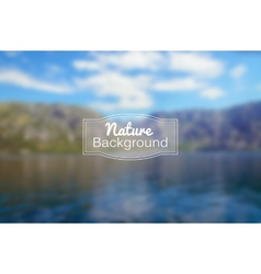 Blurred nature background sea and vector