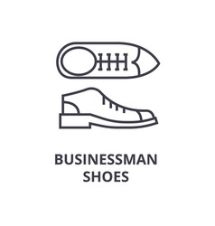 businessman shoes line icon outline sign linear vector image vector image