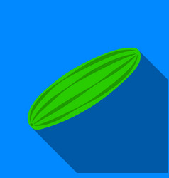 cucumber icon flate singe vegetables icon from vector image vector image
