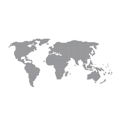 dot of world map vector image vector image