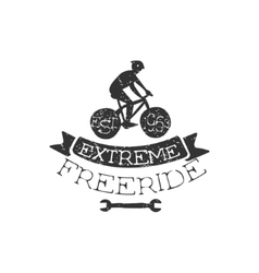Extreme freeride vintage label vector