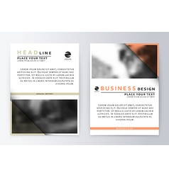 Flyer cover design white and red template brochure vector