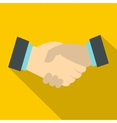 Handshake icon flat style vector