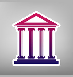 Historical building purple vector