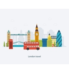 London united kingdom big ben tower flat icons vector