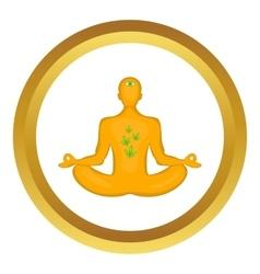 Man in lotus position icon vector image