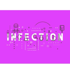 Medicine concept infection vector image vector image