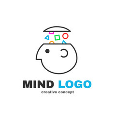 mind logic creative logo design vector image