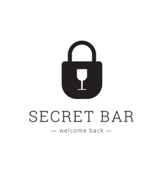 minimalistic secret bar logo with little vector image vector image