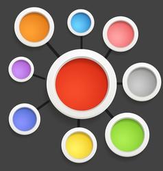 Modern social media abstract scheme vector image vector image