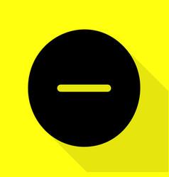 Negative symbol minus sign black vector
