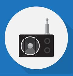 Of tech symbol on radio flat vector