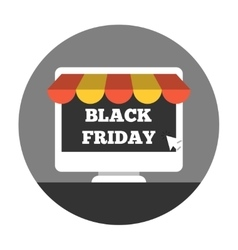 Online shoping on black friday vector