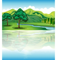 Our natural land and water resources vector image vector image