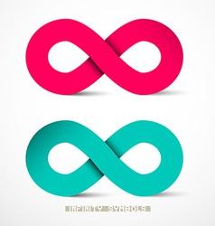 Paper Infinity Symbols Set vector image