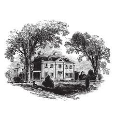 Plantation house vintage vector