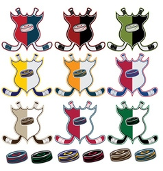 set of Hockey Sport Crests vector image vector image